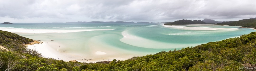 Panoramique Whitheaven Beach Whitsunday Islands Queensland Australie