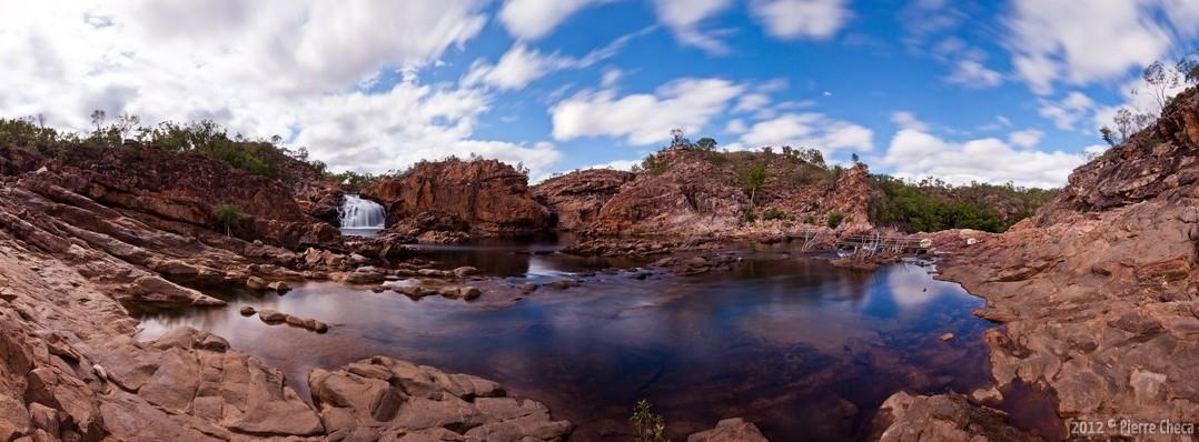 Panoramique Edith falls Nitmiluk National Park Australie