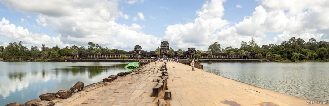 Panoramique exterieur Angkor Wat Cambodge