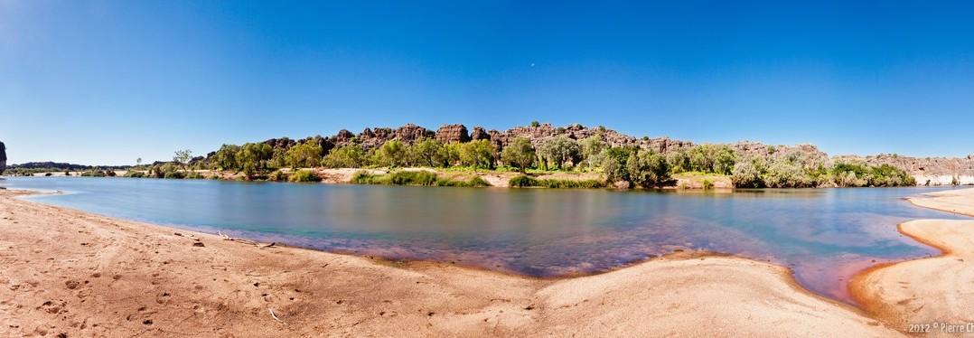 Panoramique Geikie Gorge Kimberley WA Australie