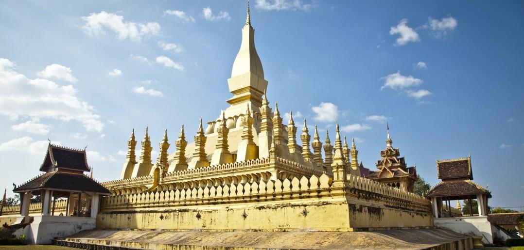 Temple Wat Chedi Luang Vientiane Laos