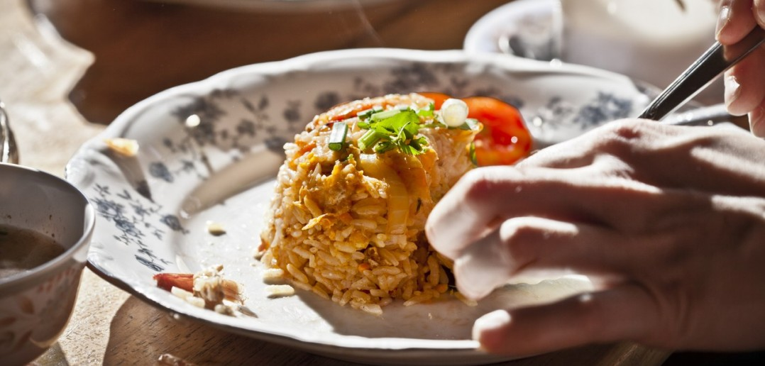 Riz frit asiatique
